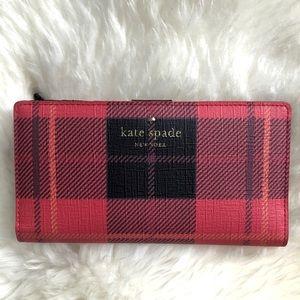 Kate Spade ♠️ plaid wallet